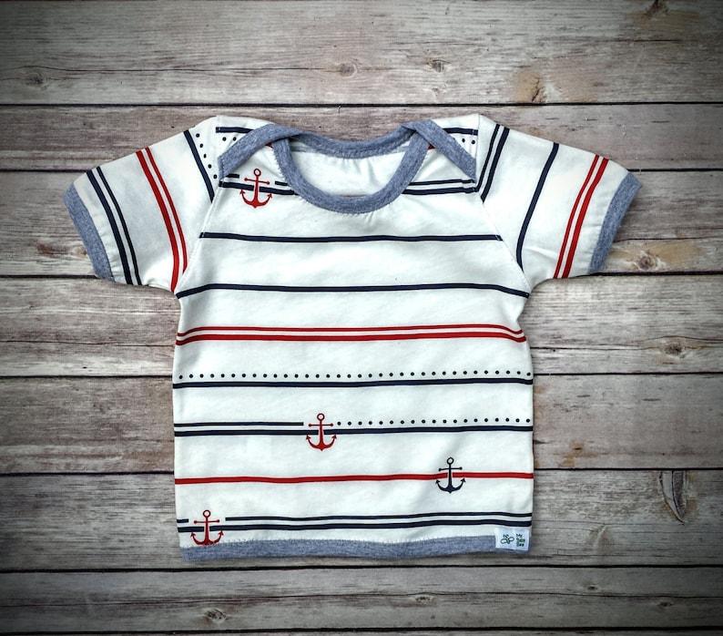 Baby Boy Cotton T-Shirt Infant Boy Summer Clothes Infant Boy Cotton Clothes Baby Boy Gift Baby Boy Striped Tee