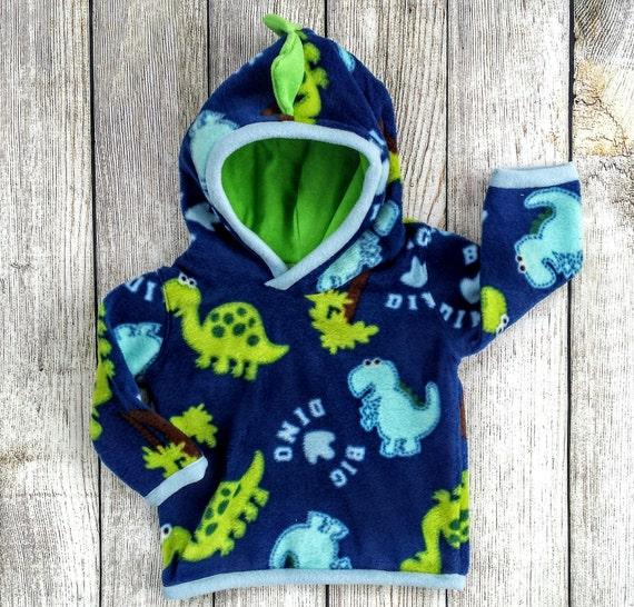 9aac09545 Fleece Dinosaur Hoodie Baby Boy Fleece Dino Hoodie Infant