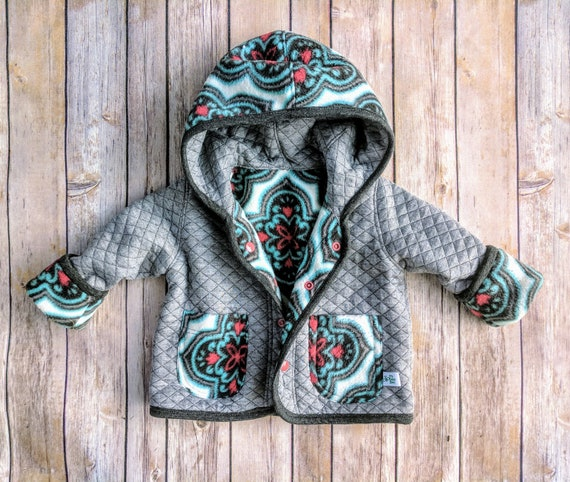 04421ab99 Baby Girl Spring Fall JacketInfant Girl Quilted Coat Baby