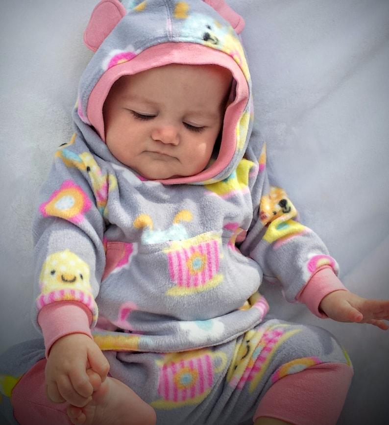 Infant Girl Winter Clothes,Baby Girl Micro Fleece  Sweat Suit,Infant Girl Hoodie Set Baby Girl Winter Set Baby Girl Harem Pant Set