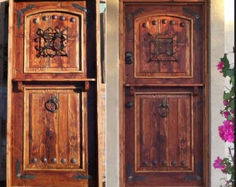 Merveilleux Reclaimed Lumber Rustic Dutch Door W/ Hard Ware Speakeasy