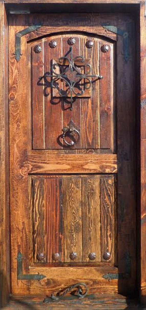 Rustic Reclaimed Lumber Kiln Dried Wood Stained Door 36 X 80 YOU Choose Style