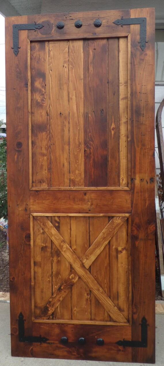 Reclaimed Lumber 1 Barn Door W Hard Ware Plus Hanging Rail Etsy