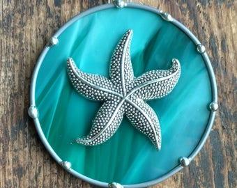 Starfish Ornament Sun catcher Stained Glass  Destination Wedding Sandy Christmas Beach Birthday Housewarming Favors Gift tag