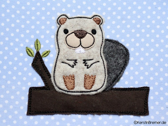 Embroidery File Set Beaver Ralf 18x30 Doodle Application