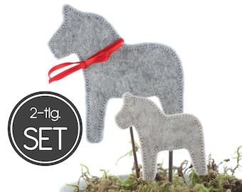 ITH Embroidery File Dala Horse 10x10 (4x4) Set - 2 Dala Horse Embroidery Pattern - Winter Decoration, Decorative Plug, Flower Plug