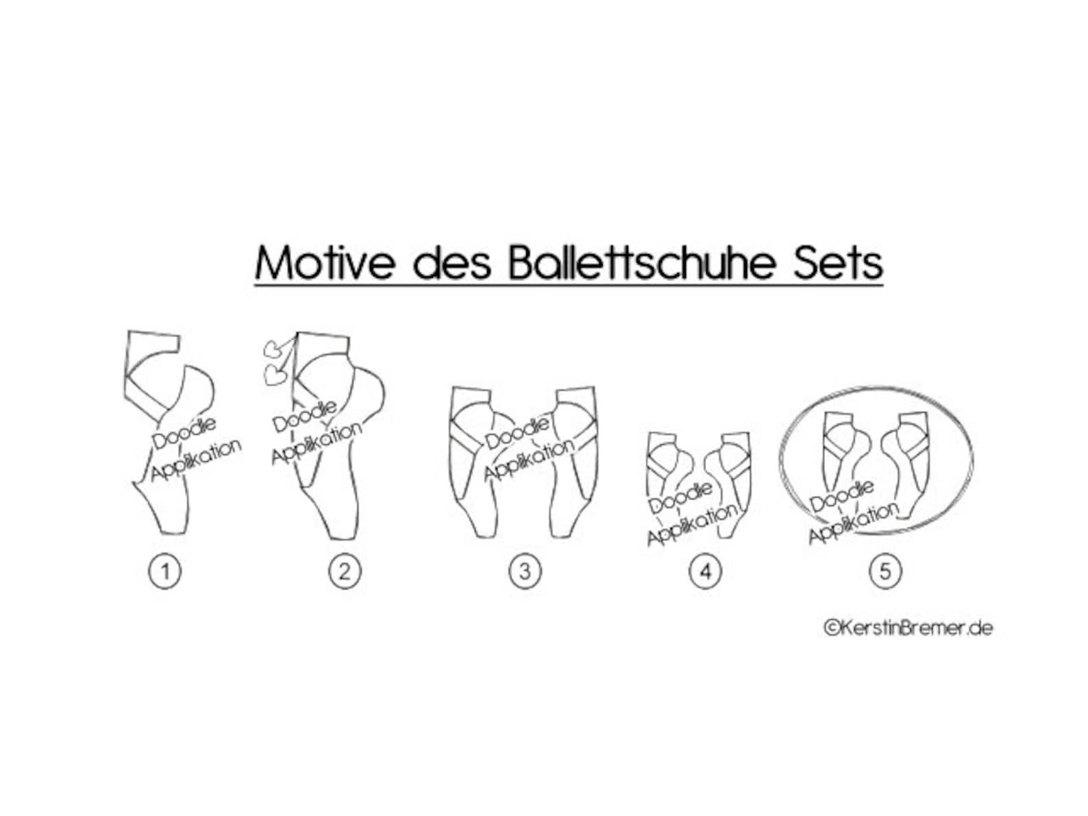 embroidery files set ballet shoes 10x10 doodle application ballet dance