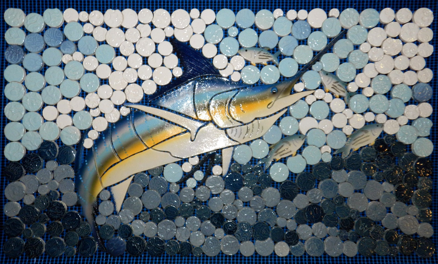 Diy Ceramic Tile Mosaic Marlin Backsplash 14x22 Etsy