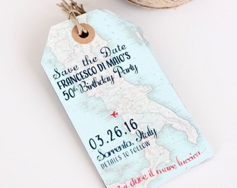 Save The Date Luggage Tag Etsy - Luggage tag save the date template