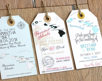 Save the Date Magnet Tag SAMPLE. Non-personalized sample. Wedding save the date. Destination Wedding
