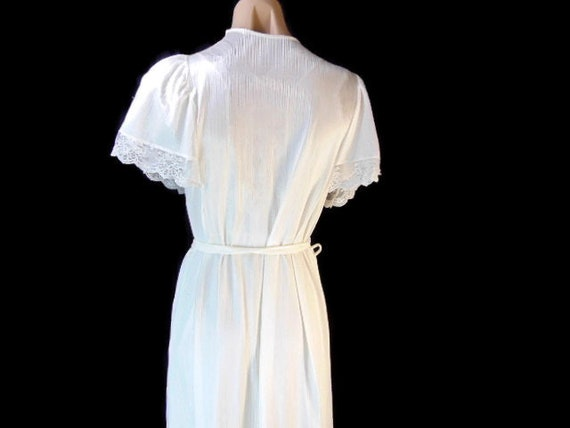 Vintage Henson Kickernick Cream Set Gown Robe S L… - image 2