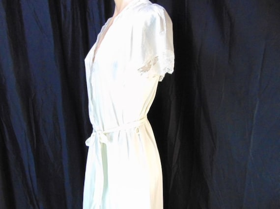 Vintage Henson Kickernick Cream Set Gown Robe S L… - image 5