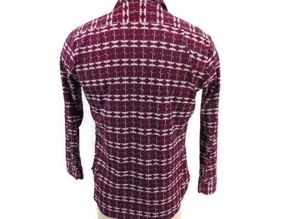 JP Austin Shirtmaker Maroon Button Shirt L 70's A… - image 2