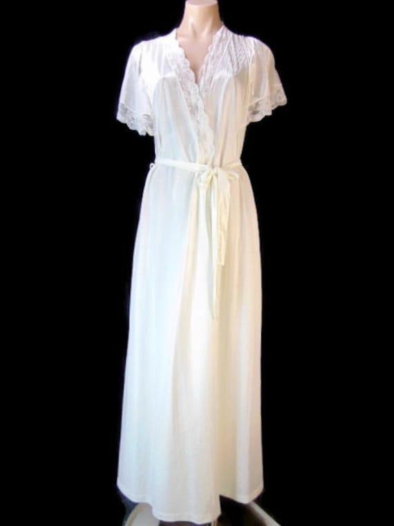 Vintage Henson Kickernick Cream Set Gown Robe S La