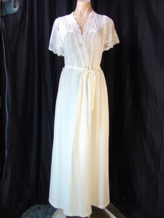 Vintage Henson Kickernick Cream Set Gown Robe S L… - image 3