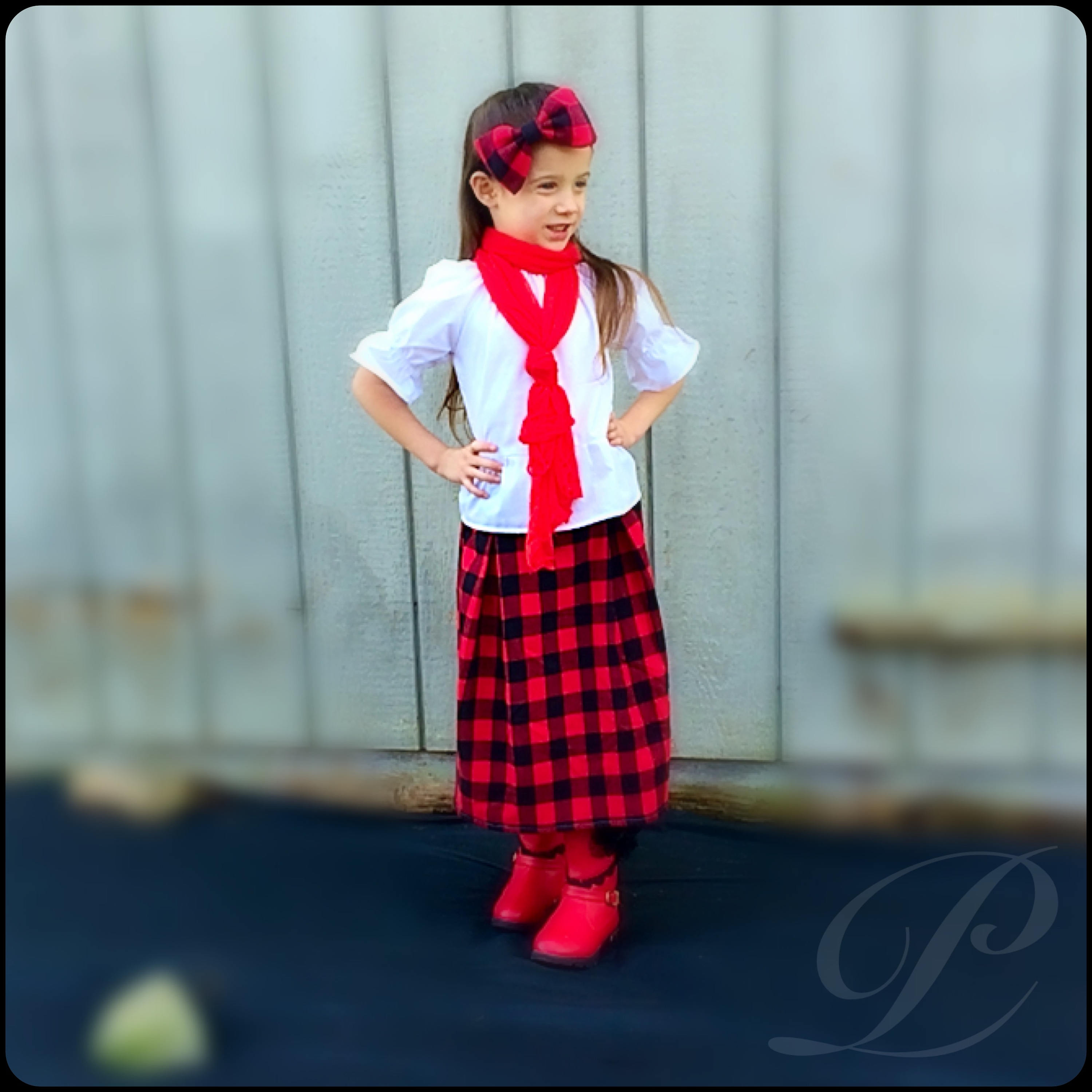 Red Plaid Carolers 18: BUFFALO PLAID SKIRT Red Plaid Skirt Girls Long Skirts With