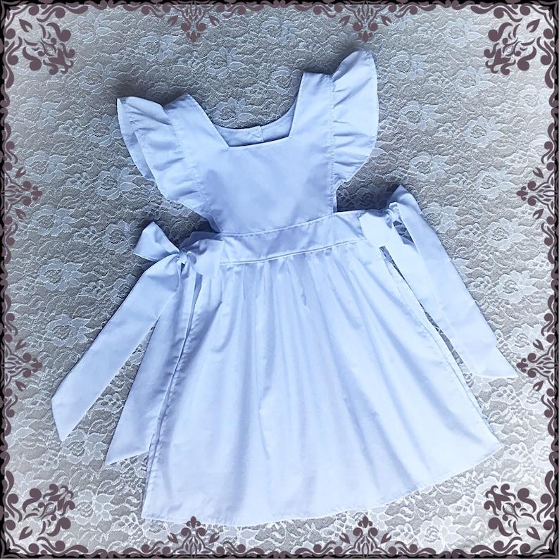 d6da335063b TABLIER chasuble blanche Alice dans au pays des merveilles