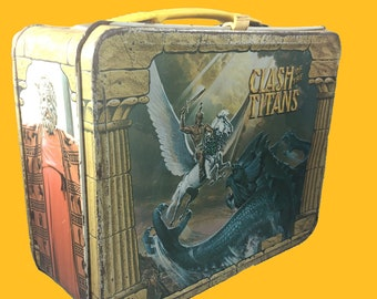 1980 Clash of The Titans metal lunchbox