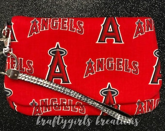 Los Angeles Angels clutch purse