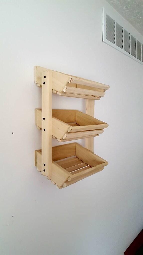 Kitchen Wall Organizer, Kitchen Storage, Kitchen Wall Storage, Wall Storage  Basket, Wooden Basket, Wall Organizer, Vegetable Storage,