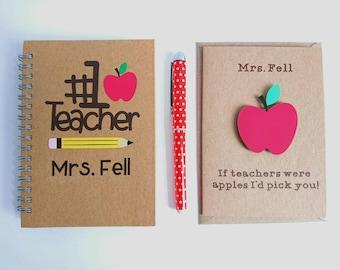personalised teacher gift teacher notepad teacher appreciation gift teacher notebook male teacher gift thank you teacher teaching assistant