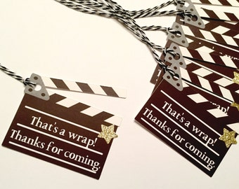 Movie Party Favor Tags | Movie Party | Hollywood Theme | Movie Night Party | Gift Tags | Favor Tags