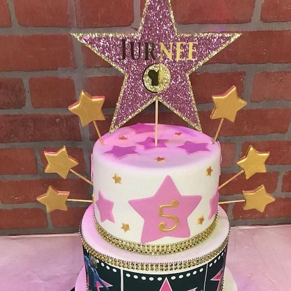 Walk Of Fame Star Cake Topper Award Show Movie Theme Etsy