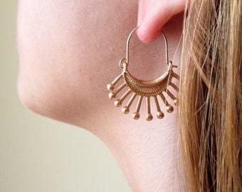 Gypsy Earrings , Boho Earrings , Bohemian Earrings , Tribal Earrings , Hippie Earrings , Ethnic Earrings , Gypsy Jewelry , Hoop Earrings