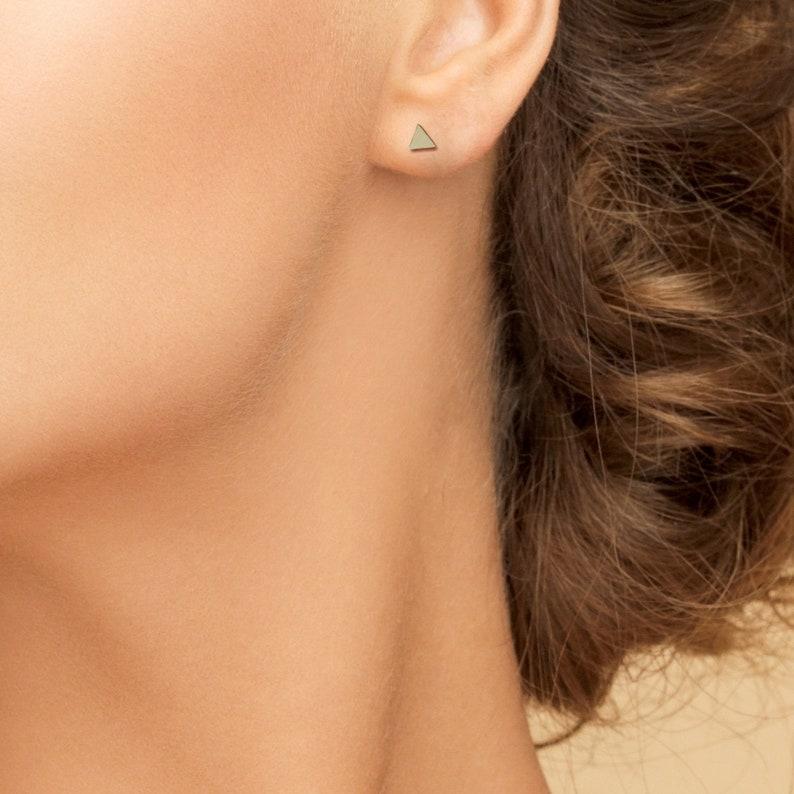6295899ff 925 Sterling Silver Triangular Earrings Silver Earrings | Etsy