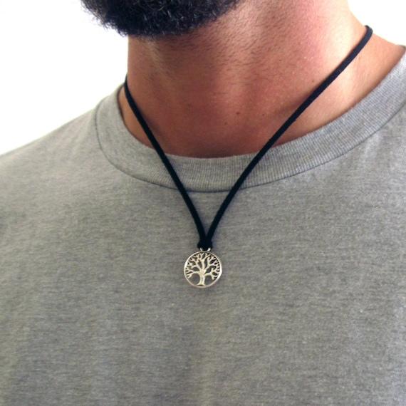 Solomon Tree of Life pendant Hebrew on Adjustable Cord Necklace