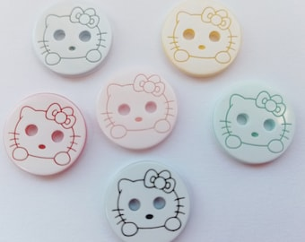 """Baby Boy Girl Clothing Knitting Sewing Buttons 10 Peppa Pig Buttons 12mm 1//2/"""""""