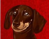 Teckle dog custom digital illustration