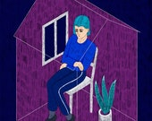 Isolation custom digital illustration