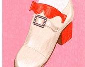 Shoe custom digital illustration