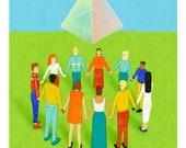 Pyramid custom digital illustration