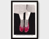 Seeing the ones you love is like returning home. - Illustration- Giclée Print - Limited edition- Handmade