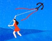 Anchor Kite digital illustration