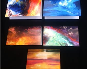 Glorious Cosmic and Earth Art Note Card Sets ~ Square & Matte