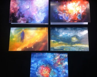 Sumptuous Cosmic and Earth Art Greeting Card Sets ~ Large & Glossy