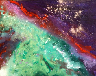 Orion Nebula II- Abstract Paintings of the Earth and the Cosmos-Signed Archival Fine Art Print