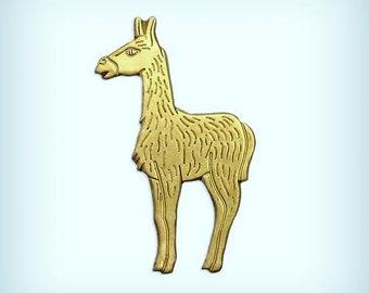 Vintage Brass Llama Figurine 9 12\u201d