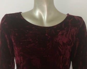 Red velvet crop top