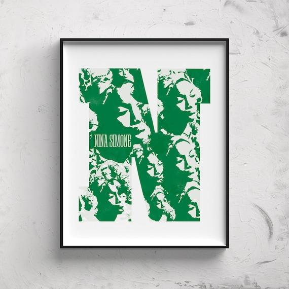 Nina Simone. Poster. Poster. Art. Digital printing. Illustration. Music. Digital download.