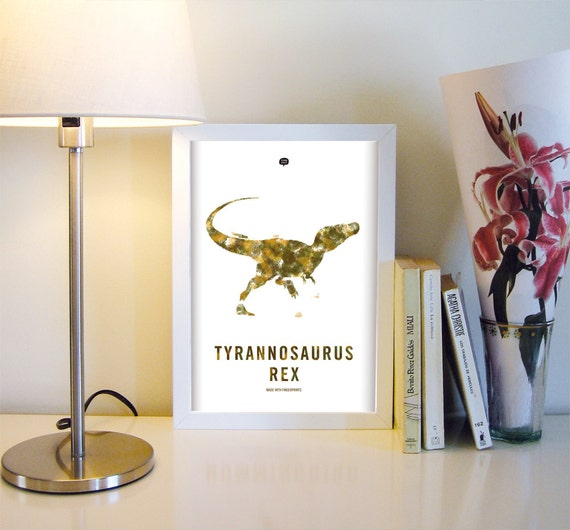 Dinosaur. Tyrannosaurus rex . Wall art decor. Picture. Fingerprint. Illustration.Printable art. Digital print. Instant digital download