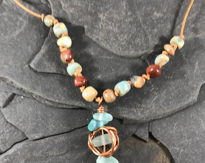 Beach Glass Aqua Terra Jasper