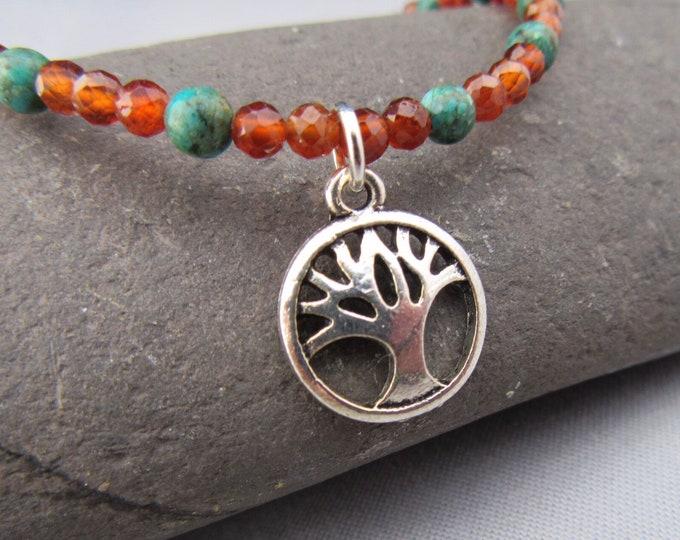Tree of Life Turquoise Garnet Bracelet New Price