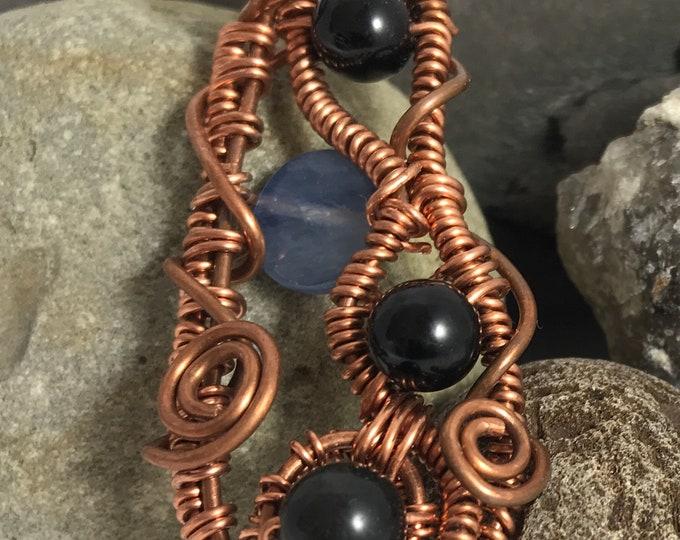 Roads  Tourmaline Kyanite Copper Pendant