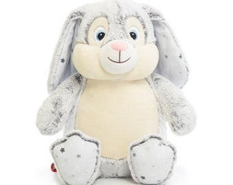 Bunny, Cubbie cuddly toy personalized embroidered, plush toy, stuffed toy