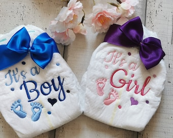 embroidered diaper, gift for birth, memory,