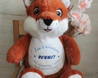 Fox, Cubbie Cuddly Toy Personalized Embroidered, Plush Toy, Stuffed Toy